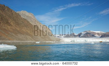 July 14th Glacier in Spitsbergen, Svalbard