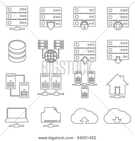 Hosting Network Icons