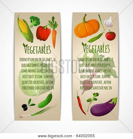 Vegetables vertical banners