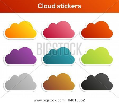 Set Of Cloud Stickers