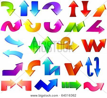 Type Of Colorful Arrow Set