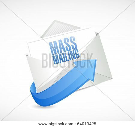 Mass Mailing Email Illustration Design