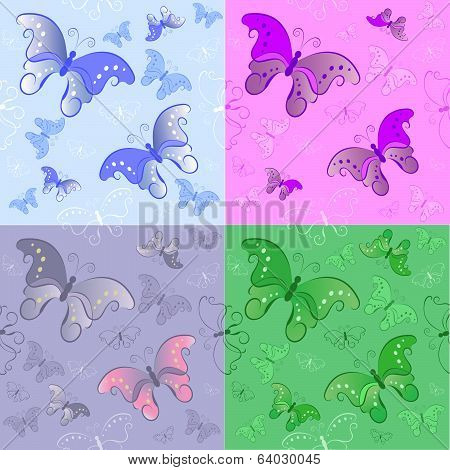 Seamless Pattern From Butterflies