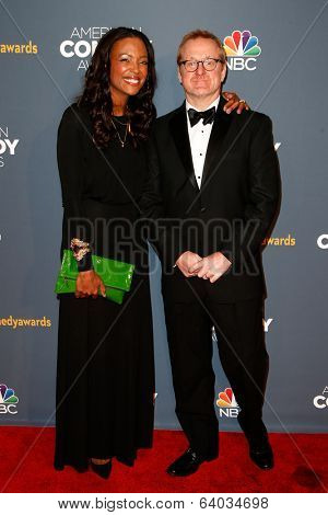 NEW YORK-APR 26: Actress/Comedian Aisha Tyler (L) and voice actor Matt Thompson attend the American Comedy Awards at the Hammerstein Ballroom on April 26, 2014 in New York City.