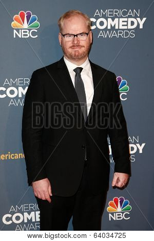 NEW YORK-APR 26: Comedian Jim Gaffigan attends the American Comedy Awards at the Hammerstein Ballroom on April 26, 2014 in New York City.