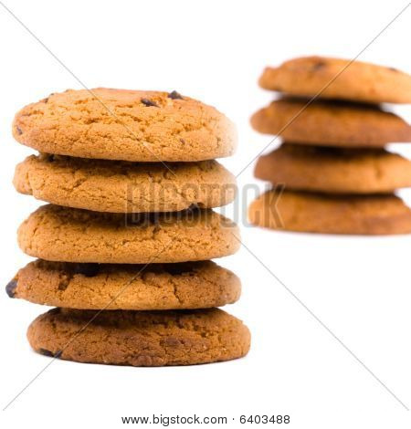 Two Stacks Of Cookies