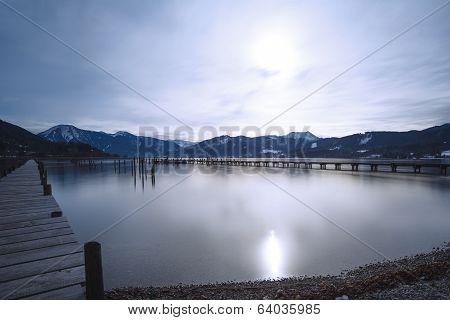 Lake Tegernsee, Bavaria, GER, long time exposure