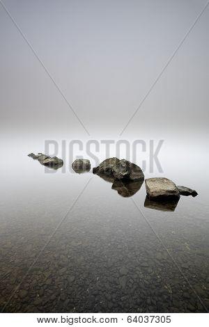 Rocks in the mist
