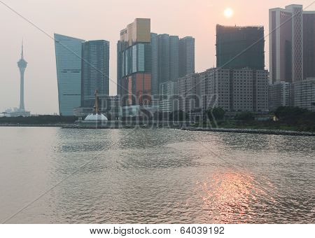 View Of Sunset In Macao