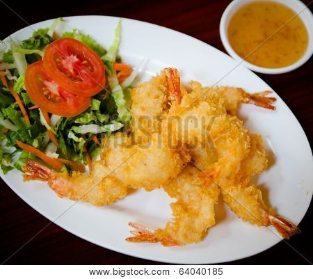 Breaded Butterfly Prawns - Deep Fried Battered Prawns