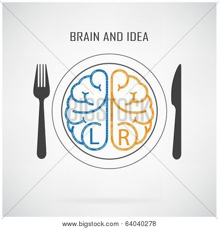 Creative Left Brain And Right Brain Idea Concept