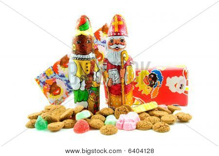 Chocolate Sinterklaas And Black Pete