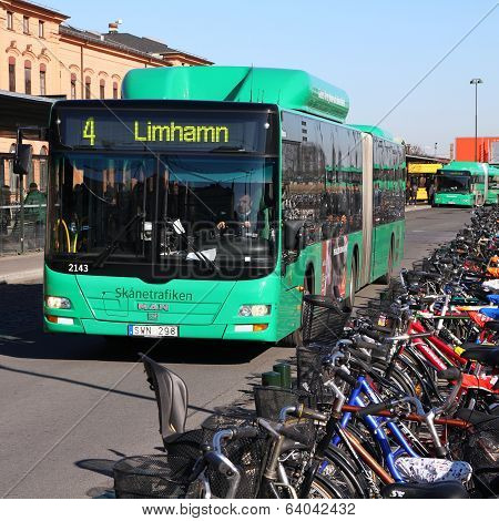 Man Bus In Malmo