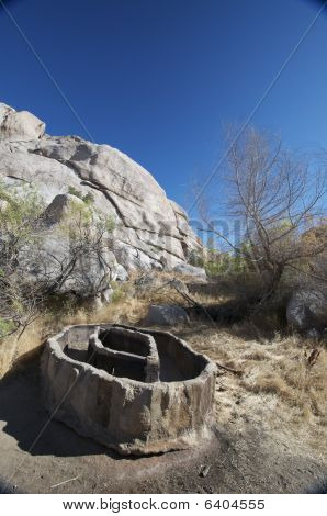 Cattle water trough in the desert