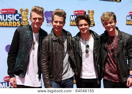 LOS ANGELES - APR 26:  The Vamps at the 2014 Radio Disney Music Awards at Nokia Theater on April 26, 2014 in Los Angeles, CA
