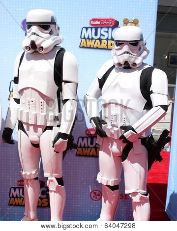 LOS ANGELES - APR 26:  Storm Troopers at the 2014 Radio Disney Music Awards at Nokia Theater on April 26, 2014 in Los Angeles, CA