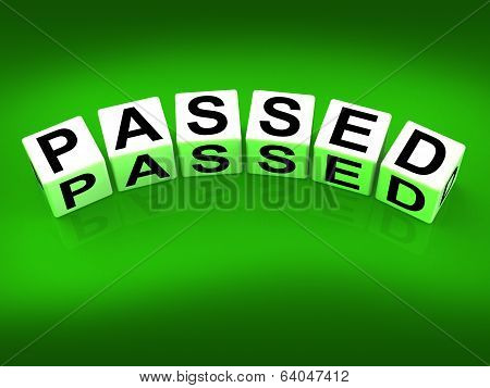 Passed Blocks Refer To Satisfied Verified And Excellent Assuranc