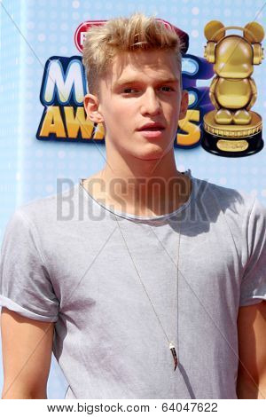 LOS ANGELES - APR 26:  Cody Simpson at the 2014 Radio Disney Music Awards at Nokia Theater on April 26, 2014 in Los Angeles, CA