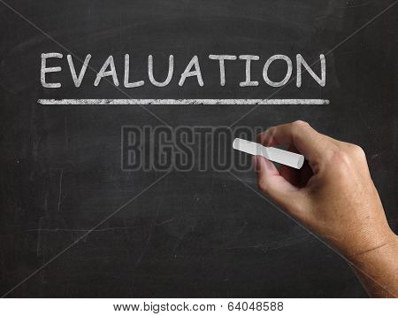 Evaluation Blackboard Means Judgement Interpretation And Opinion