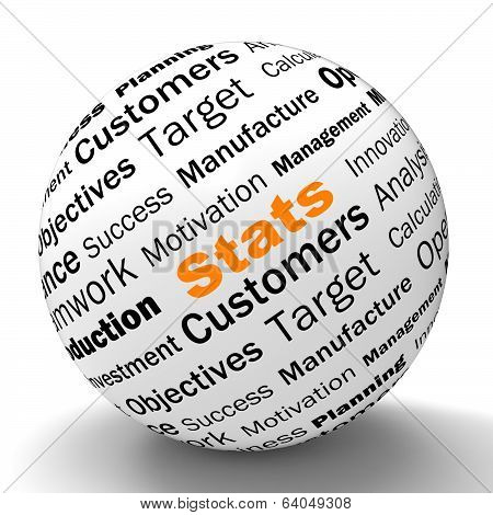 Stats Sphere Definition Shows Business Reports And Figures