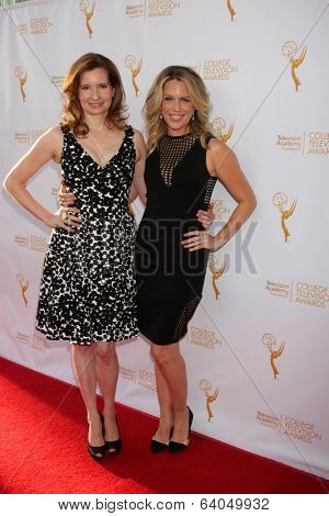 LOS ANGELES - APR 23:  Lennon Parham, Jessica St. Clair at the 35th College Television Awards at Television Academy on April 23, 2014 in North Hollywood, CA