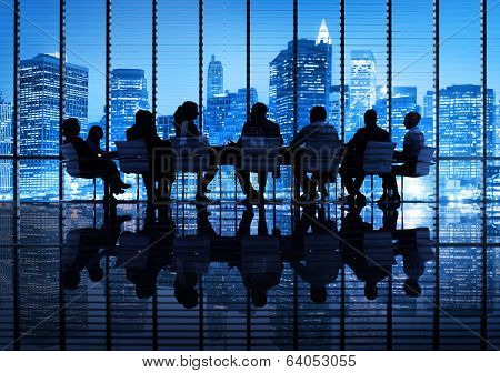 Group of Business People Meeting in the City