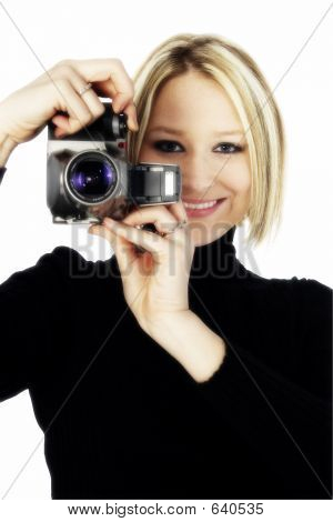 Blonde With Camera