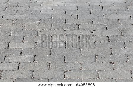 Gray Street Brick Pavement Background Texture