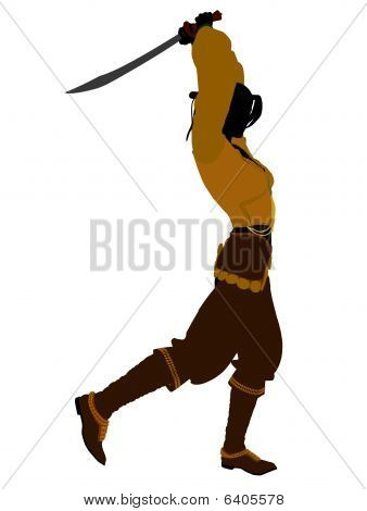 Female Pirate Silhouette