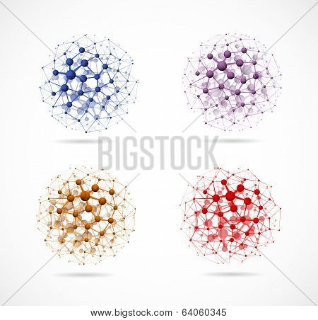 Four Molecular Spheres