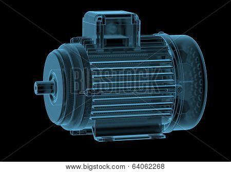 Electric motor with internals