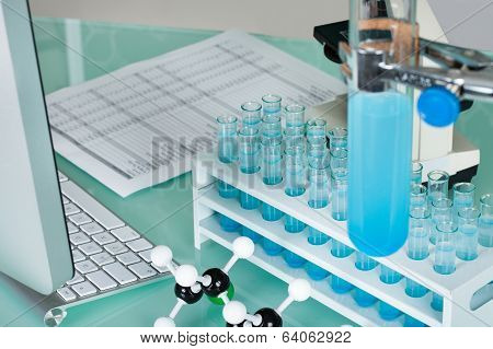 Scientist Working Place