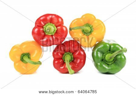 Colorful sweet pepper pyramid.