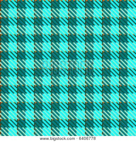Turquoise check fabric