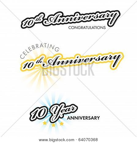 10th Anniversary sign collection