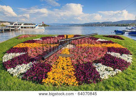 View On Lake Zurich From Zurich City