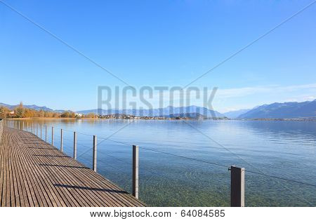 Rapperswil, View On Lake Obersee