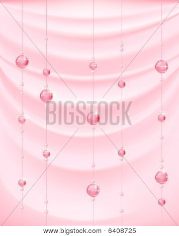 pink bells in the silk background