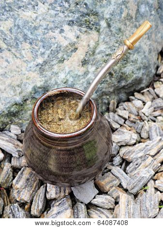Yerba mate, bombilla and mate