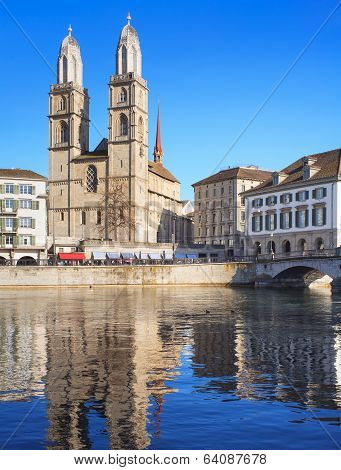 Zurich, The Great Minster Cathedral