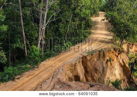 Landslide Dirt Road
