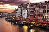 picture of gondola  - Venice Grand Canal gondolas - JPG