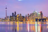 stock photo of greater  - Toronto Skyline at dusk - JPG
