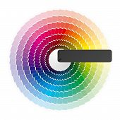 stock photo of color wheel  - The vector illustration of a color wheel - JPG