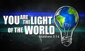 image of bible verses  - You are The Light of the World - JPG