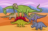 foto of apatosaurus  - Cartoon Illustration of Funny Prehistoric Dinosaurs Characters Group - JPG