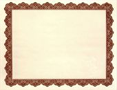picture of certificate  - Blank Certificate  - JPG