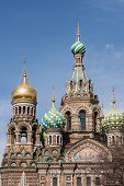 stock photo of sankt-peterburg  - Dome of the Savior on Blood Sankt - JPG