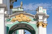 pic of sankt-peterburg  - architectural details of the Hermitage in Sankt - JPG