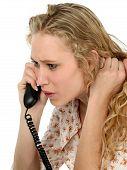 Cute Female Teen On Phone poster